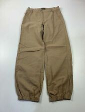 BNWT MENS SISLEY LIGHT BROWN CASUAL CROPPED SUMMER STRAIGHT LEG TROUSER SIZE W28