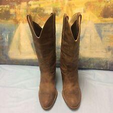 "Womens JESSICA SIMPSON Light Brown 3"" Heel Mid Calf Boots Size 7B"