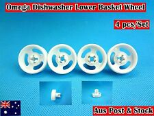 Omega Dishwasher Parts Lower Basket Wheel Replacement (white) 4 pcs/set (C309)