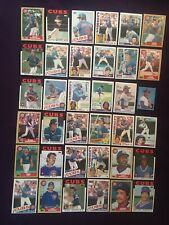 Lot of 36 1980's Topps Chicago Cubs Ryne Sandberg Ron Cey Gary Matthews Moreland