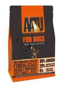 AATU 80/20 Protein Dog Food Chicken Duck Salmon Shellfish Turkey 1.5 / 5 or 10Kg