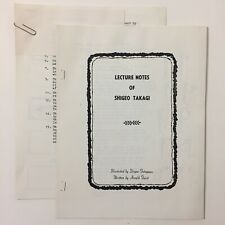 Vintage Lecture Notes Of Shigeo Takagi Magic Rope Tricks $10 Bill Arnold Furst