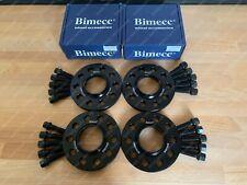 2x 15mm + 2x 20mm Black Alloy Wheel Spacers Black + Bolts Audi A5 B8 B9 (R)