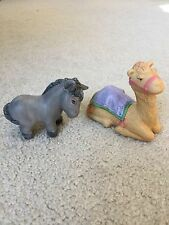 AVON HEAVENLY BLESSINGS~Lot of 2 NATIVITY FIGURINES~Donkey and Camel