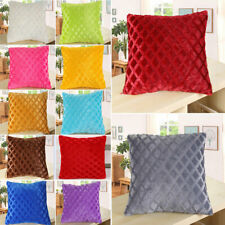 "17""x17"" Plush Square Throw Pillow Case Sofa Waist Back Cushion Cover Decorative"