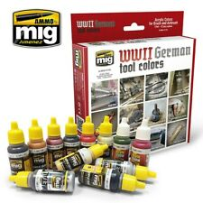 Ammo by Mig Acrylic Colours Paint Set - WWII German Tool Colours (A.MIG-7179)