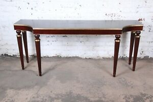 Barbara Barry for Baker Furniture Mahogany and Gold Gilt Console or Sofa Table