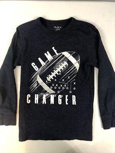 Childrens Place Boy Shirt Long Sleeve Football Size L 10 - 12
