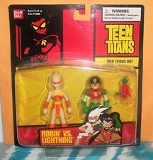 Teen Titans Robin vs. Lightning Action Figure Set (2004) Mip