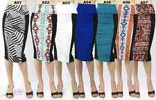 High Waist Pencil Skirt Stiped/Paisley/Aztec/Geometric ( S/M/L )