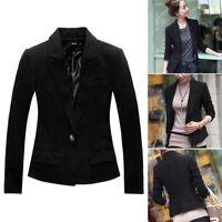 Fashion Women Casual Long Sleeve Slim Work Business Suit Coat Jacket Blazer Tops