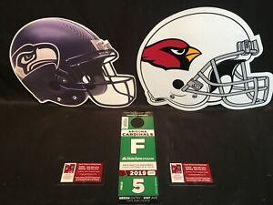 Arizona Cardinals v Seattle Seahawks 9/29 Green F Field Lot Parking Pass Tickets
