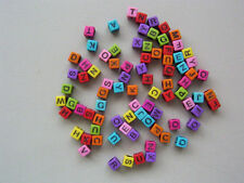 Plastic Square Jewellery Making Beads
