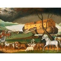 Noah/'s Ark Bible Story Animals Five Piece Framed Canvas Home Decor Wall Art 5