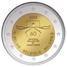 "BELGIE SPECIALE 2 EURO 2008 UNC  ""MENSENRECHTEN"""