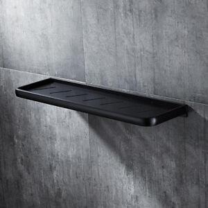 50cm Modern Black Space Aluminium Wall Mounted Bathroom Shower Shelf Storage
