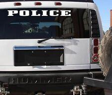 "POLICE STICKER DECAL 6x30"" LARGE SIZE PATROL OFFICER BADGE SHERRIF DEPUTY SIREN"
