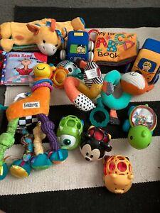 Baby  Boy Infant Toys Lot Development Colors, Soft Books,Textures  Toys- 11 Pcs