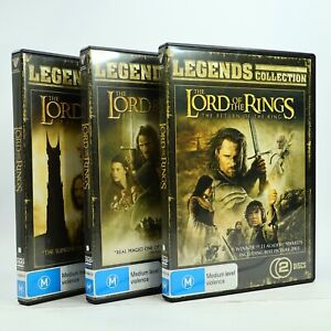 The Lord Of The Rings 1 2 3 Legends Collection DVD Bundle GC Free Tracked Post