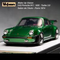 Make Up 1:43 Scale Porsche 911 930 Turbo 3.0 1974 Metal Green Car Model Last One