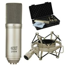 MXL 2008 Condenser Vocal Studio Recording Microphone with Shockmount and case