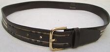 - AUTHENTIQUE    ceinture  BURBERRYS  toile & cuir  TBEG  vintage