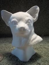 Chihuahua Dog Head Bust Ceramic Bisque U-Paint Ready To Paint  Chihuahuas