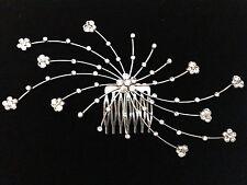 Large Crystal Hair Comb - Prom Bridal Formal Hair Clip Headpiece