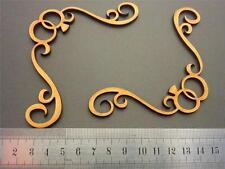 Mdf laser cut scrapbook decorative chipboard blank art deco embellishment FL09