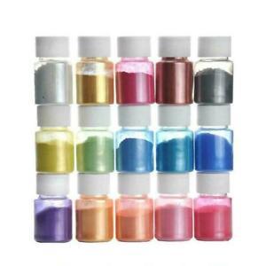 15 Colors Mica Powder Epoxy Resin Dye Pearl Pigment Natural Set Mineral H9D4