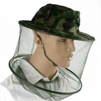 Mosquito Bee Insect Mesh Net Midge Insect Camping Bug Hat Protector Head Face