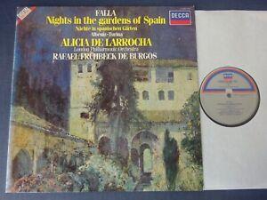 FALLA: NIGHTS IN THE GARDENS OF SPAIN etc LP LPO, De Larrocha, DECCA 410 289-1