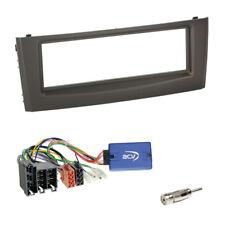 1-din Panneau Façade Radio Noir + ZENEC Volant Interface pour FIAT GRANDE PUNTO