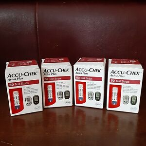 200 count (4x50) ACCU-CHEK Aviva Plus Test Strips expire 5 and 6/2021  Fast Ship