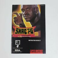 Shaq Fu (Super Nintendo, SNES) MANUAL Only Excellent