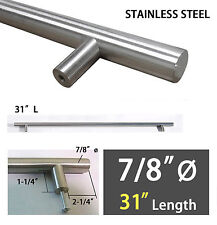 """New 31"""" Lx7/8""""ø Premium Large Stainless Steel Cabinet Door Pull Handle"""