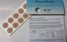 Magnetpflaster 600 Gauss 10 Stück Magnet Pflaster mit Anleitung Akupunktur
