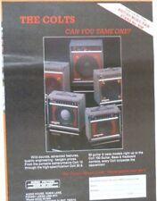 vintage magazine advert 1989 CUSTOM SOUND colts