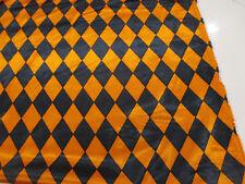 orange et noir arlequin imprimé 152cm brillant satin robe tissu