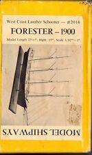 VINTAGE MODEL SHIPWAYS FORESTER - 1900 WEST COAST LUMBER SCHOONER #2014 WOOD KIT