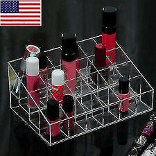 Us 24 Clear Cosmetic Storage Display Makeup Lipstick Stand Rack Holder Organizer