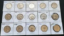 Lot of 15x Canada 5 Cent Nickel Coins - Dates: 1922 to 1992