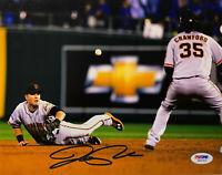 San Francisco Giants Joe Panik Signed 8x10 Photo Dive - Autographed PSA DNA COA