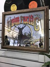 Vintage Union Pacific Rail Road Deer Mirror Sign Pickup Only
