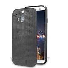 For HTC One M8 Premium flexible TPU Anti-Slip Ultra Slim Matte Case w/HD Film