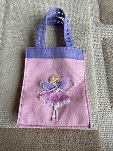 Girl's Pink And Purple Small Felt Fairy Gift Bag