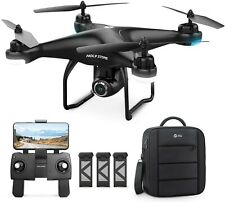 Holy Stone HS120D GPS Drone with Camera 1080p HD Quad 3 Battery + Carrying Bag
