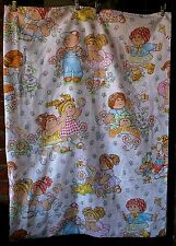 Vintage 1983 Cabbage Patch Kids twin flat/top sheet/fabric/craft/multicultural