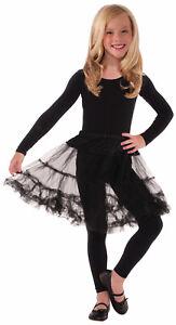 Child Crinoline Black Slip Skirt Dress Up Petticoat Tutu Costume Accessory