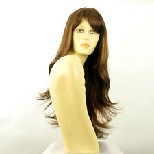Parrucca donna lunga cioccolato mechato rame : tania 627c